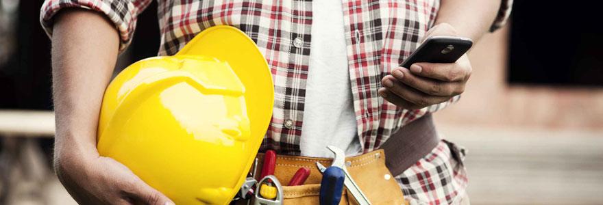 smartphone de chantier